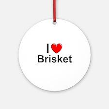 Brisket Round Ornament