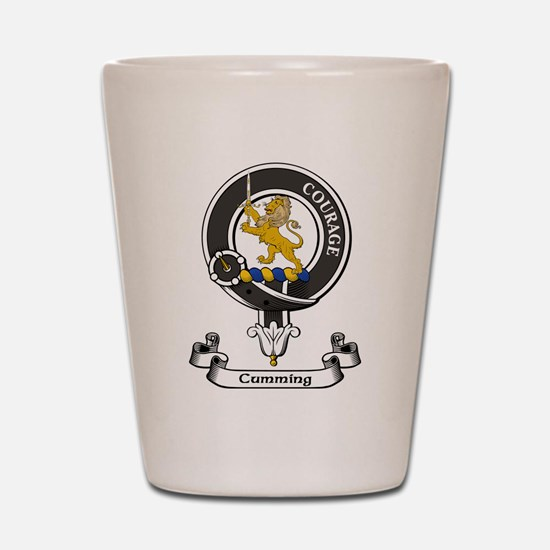 Badge - Cumming Shot Glass