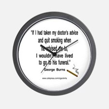 George Burns Cigar Quote Wall Clock
