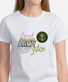 Proud Army Sister Seal T-Shirt
