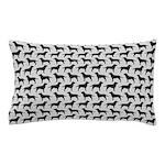 Black Labs Pattern Pillow Case