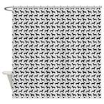 Black Labs Pattern Shower Curtain