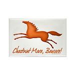 Chestnut Mare, Beware! Rectangle Magnet (10 pack)