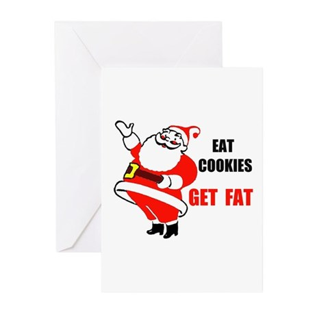 SANTA COOKIES Greeting Cards (Pk of 10)