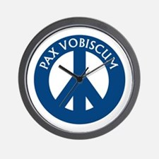 Pax Vobiscum Wall Clock
