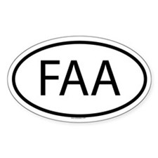 FAA Oval Decal