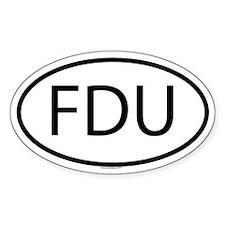 FDU Oval Decal