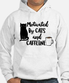 Motivated by cat and Caffine Hoodie