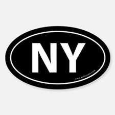New York NY Auto Sticker -Black (Oval)