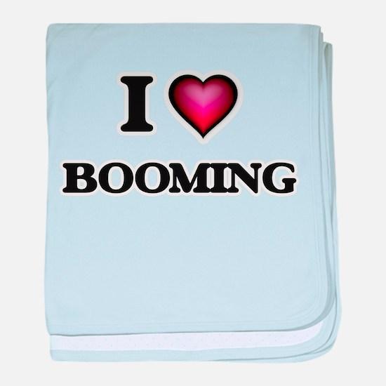 I Love Booming baby blanket