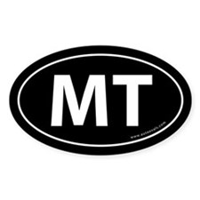 Montana MT Auto Sticker -Black (Oval)