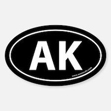 Alaska AK Auto Sticker -Black (Oval)
