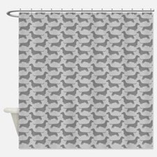 Dachshund Silhouettes Pattern Shower Curtain
