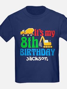 8th Birthday Construction Trucks T