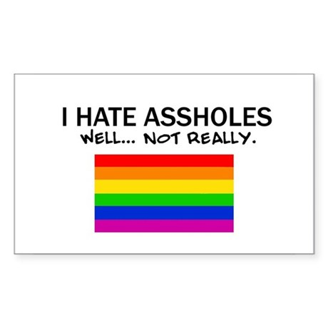 Funny Gay Rectangle Sticker