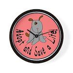 Adopt and Save a Life-Dog Wall Clock