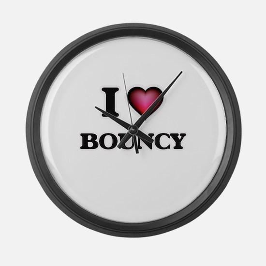 I Love Bouncy Large Wall Clock