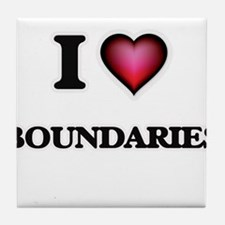 I Love Boundaries Tile Coaster