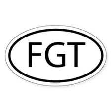 FGT Oval Decal