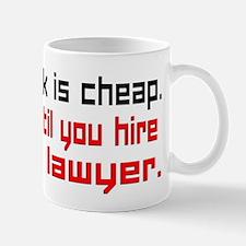 Talk is cheap. Mugs