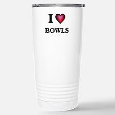 I Love Bowls Stainless Steel Travel Mug