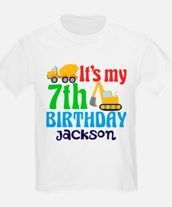 7th Birthday Construction T-Shirt