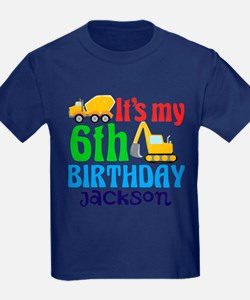 6th Birthday Construction T