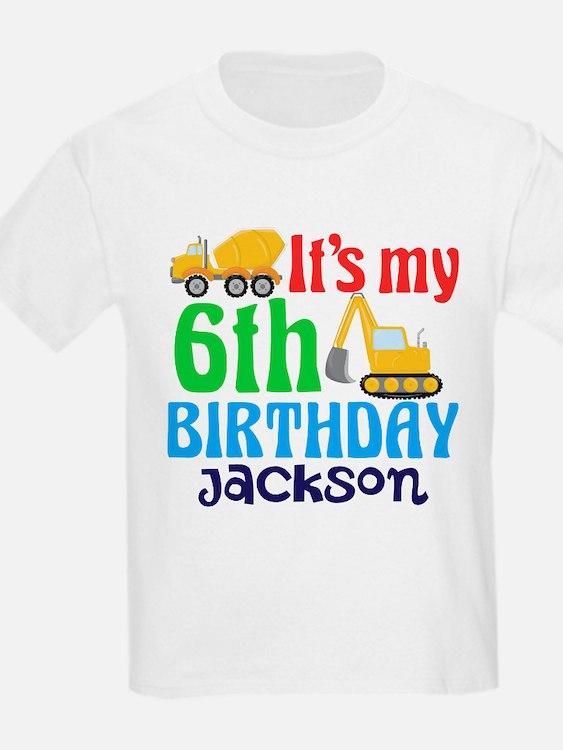 6th Birthday Construction T-Shirt