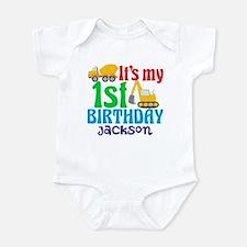 1st Birthday Construction Onesie