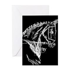 Dark Horse Greeting Card