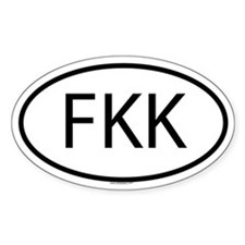 FKK Oval Decal