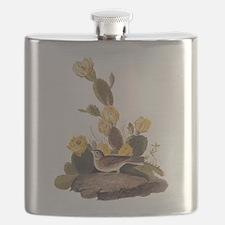 Bay Winged Bunting Vintage Audubon Art Flask
