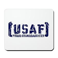 Proud USAF Grnddhtr - Tatterd Style Mousepad