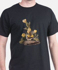 Bay Winged Bunting Vintage Audubon Art T-Shirt