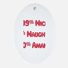 Amanda - 1% Naughty Oval Ornament