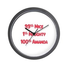 Amanda - 1% Naughty Wall Clock