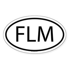 FLM Oval Decal