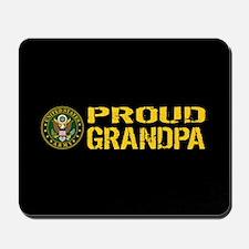 U.S. Army: Proud Grandpa (Black & Gold) Mousepad