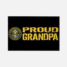 U.S. Army: Proud Grandpa (Black & Rectangle Magnet