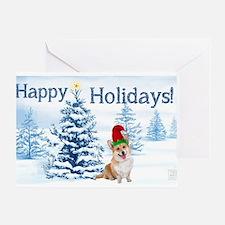 Corgi Happy Holidays Greeting Cards