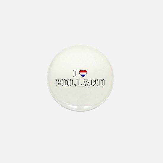 I Love Holland Mini Button