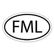 FML Oval Decal