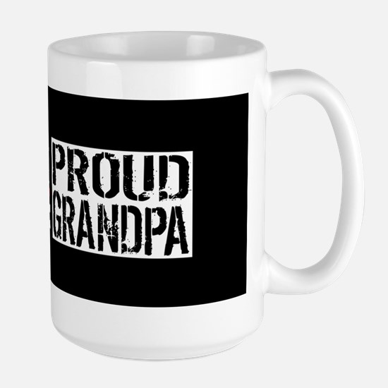 Firefighter: Proud Grandpa (Black Flag, Large Mug