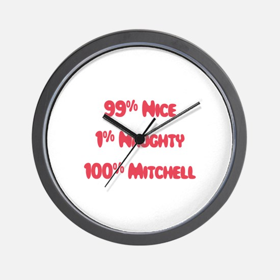 Mitchell - 1% Naughty  Wall Clock
