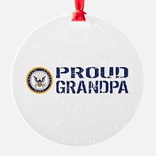 U.S. Navy: Proud Grandpa (Blue & Wh Ornament