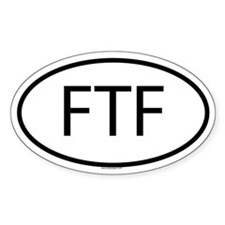 FTF Oval Decal