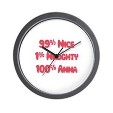 Anna - 1% Naughty Wall Clock