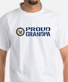 U.S. Navy: Proud Grandpa (Blue) Shirt