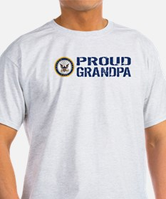 U.S. Navy: Proud Grandpa (Blue) T-Shirt