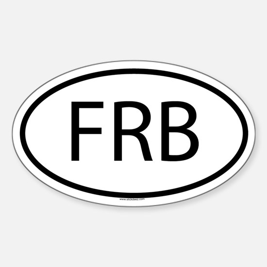 FRB Oval Bumper Stickers